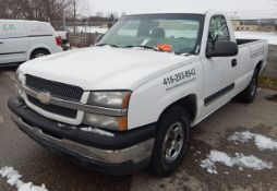 CHEVROLET (2003) SILVERADO 1500 PICKUP TRUCK WITH 4.3L V6 GAS ENGINE, AUTOMATIC TRANSMISSION, MANUAL