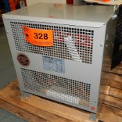 MARCUS 112.5 KVA TRANSFORMER WITH 600V, 3 PHASE, 60 HZ [RIGGING FEE FOR LOT #328 - $25 CAD PLUS