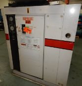 GARDNER DENVER EAP0MB ELECTRA- SAVER II ROTARY SCREW AIR COMPRESSOR WITH 100 HP, 25 PSI, 2488 HRS (