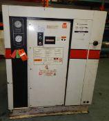 GARDNER DENVER ECPQMC ROTARY SCREW AIR COMPRESSOR WITH 100 HP, 100 PSI, S/N: M34149 (CI) [RIGGING