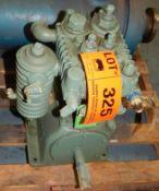 COOPER INDUSTRIES/GARDNER DENVER ATDADA COMPRESSOR PUMP WITH 200 PSI, 850 RPM, S/N: A13381 (CI) [