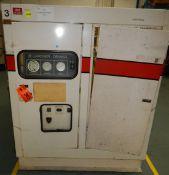 GARDNER DENVER ECMSLB ELECTRA- SAVER II ROTARY SCREW AIR COMPRESSOR WITH 75 HP, S/N: M15867 (CI) [