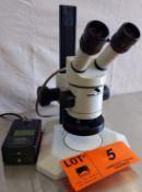WILD HEERBRUGG BINOCULAR MICROSCOPE WITH LIGHT AND POWER SUPPLY [OPTIONAL PACKAGING FEE $10 USD +