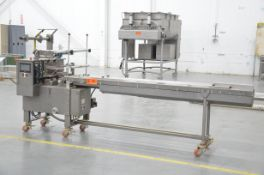 DOBOY SCOTTY II HORIZONTAL FLOW WRAPPER WITH 20-60 PACKAGES PER MINUTE CAPACITY, WEINVIEW RETROFIT