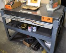 """STARRETT 30""""X48""""X4""""H GRANITE SURFACE PLATE WITH STAND (CI) [RIGGING FEE FOR LOT #47 - $50 CAD PLUS"""
