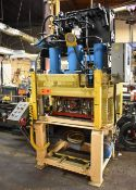 """ALKANO MODEL EH-150-4P-SPL 4-POST HYDRAULIC STAMPING PRESS WITH 150TON CAPACITY, 48""""X24"""" PLATEN,"""