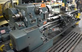"""DEAN, SMITH & GRACE TYPE 17 GAP BED ENGINE LATHE WITH 17"""" SWING, 72"""" BETWEEN CENTERS, 3"""" SPINDLE"""