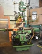 """POWERMASTER UNIVERSAL MILLING MACHINE WITH 11""""X52"""" TABLE, SPEEDS TO 3600RPM, 2-AXIS DRO, RAPID"""