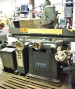 """JONES & SHIPMAN MODEL 1400 HYDRAULIC SURFACE GRINDER WITH 24""""X8"""" MAGNETIC CHUCK, COOLANT, SELTER"""