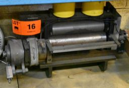"""MFG UNKNOWN AIR FEEDER WITH MECHANICAL RATCHET DRIVE, 1/8"""" CAPACITY, 12"""" WIDE, 4"""" ROLLS, S/N: N/A ("""