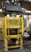 """NATIONAL HYDRAULICS MODEL EH 400-4P-SPL 4-POST HYDRAULIC STAMPING PRESS WITH 400TON CAPACITY, 32"""""""