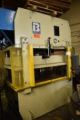 BAUSCH (REBUILT 2018) MODEL EH-200-4P- SPL 4-POST HYDRAULIC STAMPING PRESS WITH 200TON CAPACITY,