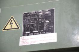 BRONE TRANSFORMER WITH 45 KVA, 575HV, 200LV, 3 PH, 60 HZ (CI)