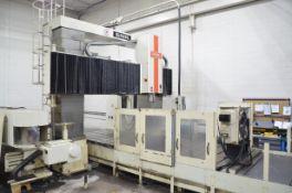 SNK RB-4NM DOUBLE COLUMN CNC VERTICAL MACHINING CENTER WITH FANUC 18-M CNC CONTROL,
