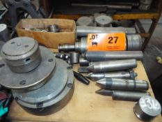 LOT/ UNIVERSAL GRINDER SPARE PARTS, WHEEL HUBS, GRINDING WHEELS, CENTERS (LOCATED AT 460 SIGNET