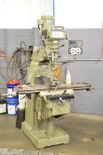 """NU-WAY 3VM VERTICAL TURRET MILLING MACHINE WITH 10"""" X 50"""" TABLE, SPEEDS TO 4200 RPM INFINITELY"""