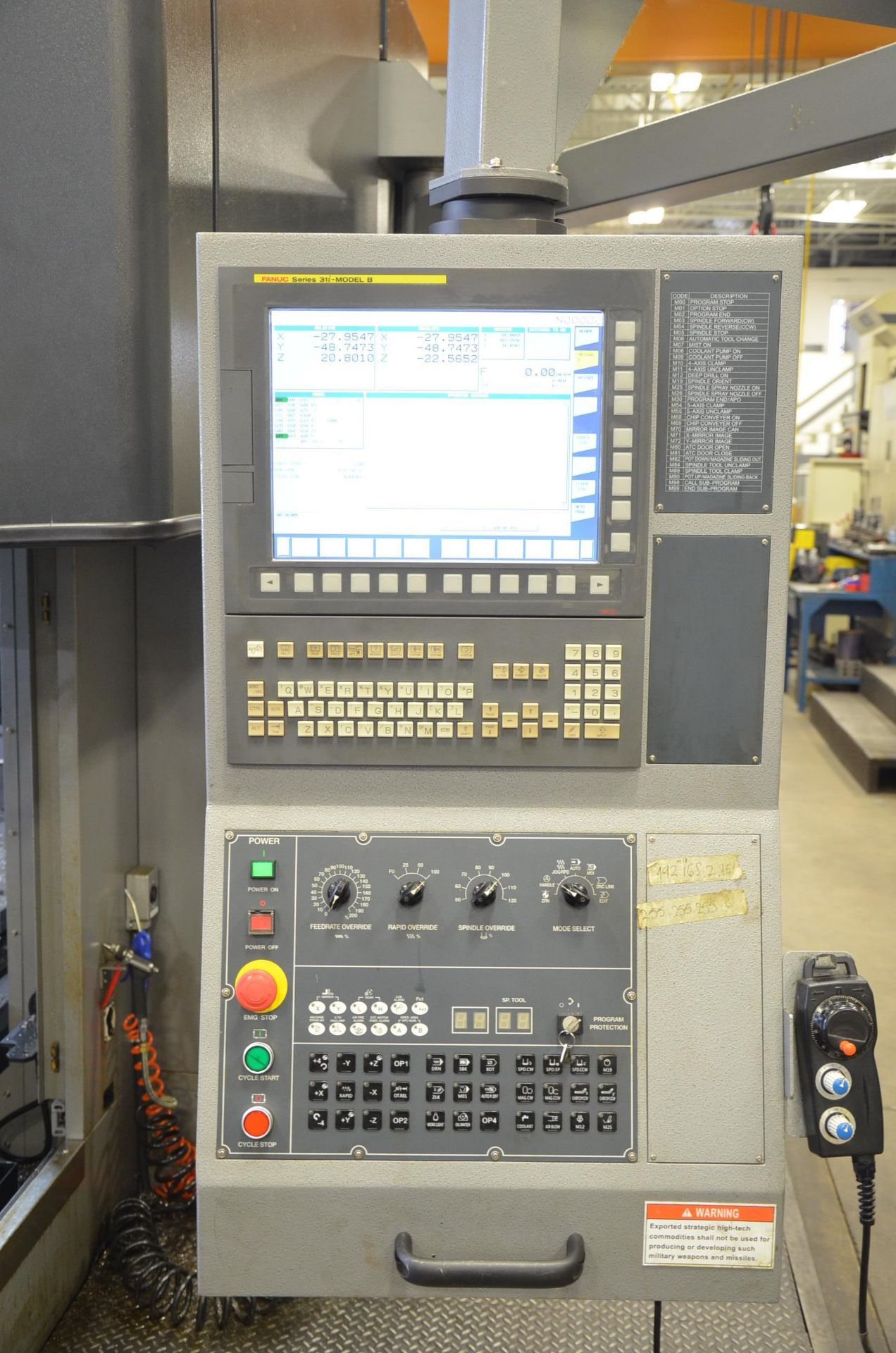 KAFO (INSTALLED NEW IN 2018) BMC-3127 CNC DOUBLE COLUMN VERTICAL MACHINING CENTER WITH FANUC - Image 2 of 13