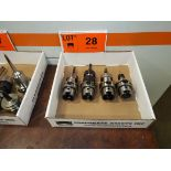 LOT/ (4) HSK63A TOOL HOLDERS
