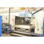 "OKK MCV 1060 CNC VERTICAL MACHINING CENTER WITH FANUC 16I-M CNC CONTROL, 98"" X 41"" TABLE, TRAVELS:"