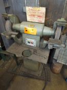 "ARBOGA EP-312 HEAVY DUTY FLOOR TYPE DOUBLE END GRINDER WITH 12"" DIAMETER WHEEL, 3HP/550V/3PH/60HZ,"