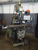 """FIRST LC-20BHS UNIVERSAL MILLING MACHINE WITH 10"""" X 51"""" TABLE, SPEEDS TO 4200 RPM INFINITELY"""