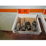 LOT/ (5) HSK63A TOOL HOLDERS