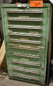 LOT/ LISTA 10 DRAWER TOOL CABINET WITH ESAB PERISHABLES & TOOLING