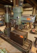 "MAS VF4 5' RADIAL ARM DRILL WITH 12"" COLUMN, SPEEDS TO 2000 RPM, COOLANT, S/N: 9795 (CI) [RIGGING"