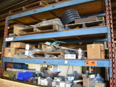 LOT/ STEEL RACK WITH CONTENTS - HARDWARE, TOOLING, SHOP SUPPLIES