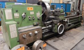 "STANKO 16K401-3 GAP BED ENGINE LATHE WITH 32"" 4-JAW CHUCK, 36"" SWING OVER BED, 127"" DISTANCE BETWEEN"