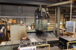 "STANKO 65A90 CNC VERTICAL MILL WITH (RETROFIT) HEIDENHAIN CNC CONTROL, 108""X41"" TABLE, TRAVELS: X-"