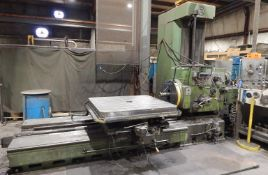 "STANKO 2620B TABLE-TYPE BORING MILL WITH 3.5"" SPINDLE, 44""X49"" ROTARY T-SLOT TABLE, TRAVELS:"