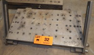 "30""X15"" DRILLED & TAPPED SINE PLATE WITH ANCHORS"