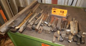 LOT/ LATHE TOOLING - HSS & CARBIDE INSERT CUTTERS