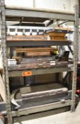 LOT/ STEEL RACK WITH INSPECTION EQUIPMENT - INCLUDING OUTSIDE MICROMETERS, INSIDE MICROMETERS,