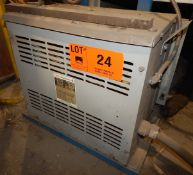 JVC 35 KVA TRANSFORMER WITH 600HV, 220LV, 3 PH, 60 HZ (CI) [RIGGING FEE FOR LOT #24 - $50 CAD PLUS