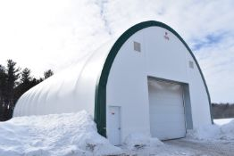 PERMDOME (2017) 100'X40'X28'H PONY WALL QUONSET HUT OUTDOOR STORAGE BUILDING (CI)