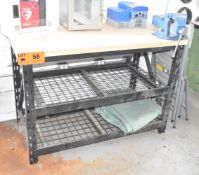 LOT/ WORKBENCH WITH VISE (NO CONTENTS)