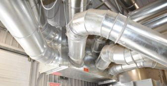 LOT/ DUST COLLECTOR SYSTEM DUCTWORK IN BUILDING CONSISTING OF STRIGHT LINE PIPES, ELBOWS,