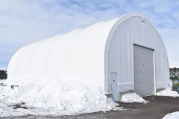 MEGADOME (2012) 60'X40'X15'H PONY WALL QUONSET HUT OUTDOOR STORAGE BUILDING (CI)