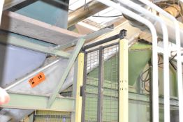 MFG. UNKOWN POWERED INCLINE CONVEYOR, S/N: N/A (CI)