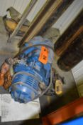 LOT/ 1 TON ELECTRIC HOIST WITH TROLLEY & I-BEAM (CI) [RIGGING FEE FOR LOT #24 - $25 CAD PLUS