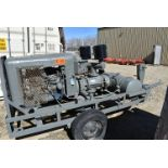 PORTABLE TOW-BEHIND GAS POWERED COMPRESSOR WITH FORD 6 CYLINDER ENGINE, CYCLOBLOWER 2800 RPM