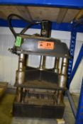 """MFG. UNKNOWN 4-POST HYDRAULIC STAMPING PRESS WITH 12"""" STROKE, 4"""" BORE, S/N: N/A (CI) [RIGGING FEE"""