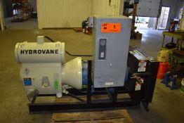 COMPAIR HYDROVANE 170CK ROTARY VANE TANK MOUNTED AIR COMPRESSOR WITH 50 HP, S/N: 5HV301609 (CI) [SKU