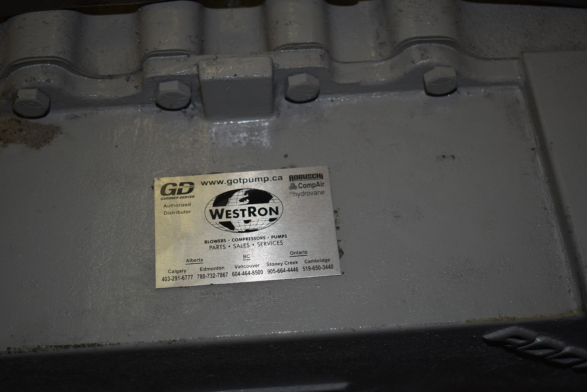 ROOTS MODEL 616 BLOWER (CI) [SKU 1282] [RIGGING FEE FOR LOT #6 - $25 CAD PLUS APPLICABLE TAXES] - Image 4 of 6