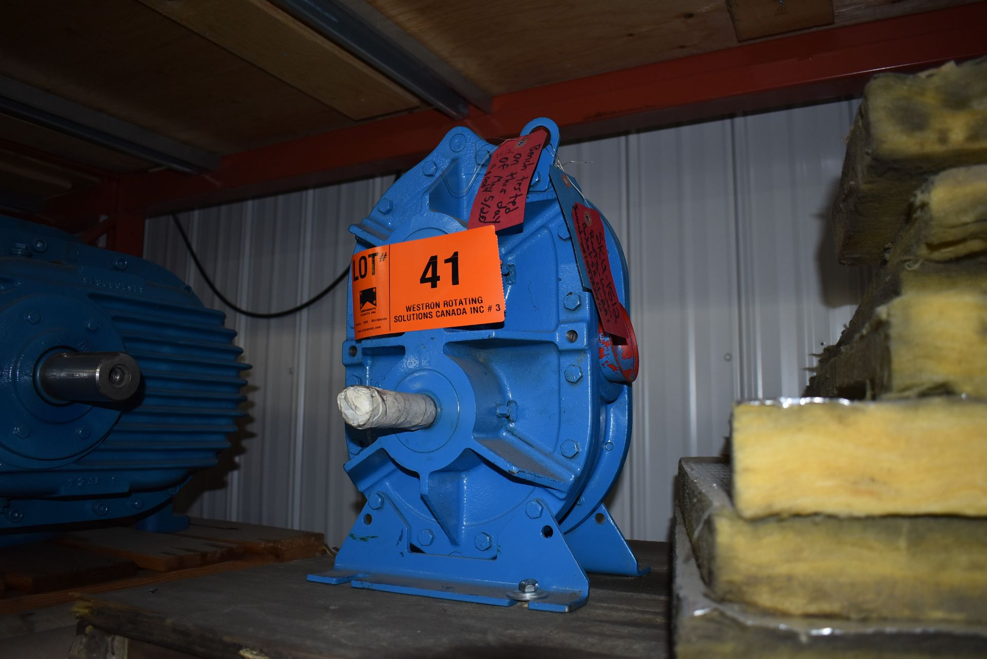 ROOTS 35-U-RAI BLOWER, S/N: N/A (CI) [RIGGING FEE FOR LOT #41 - $25 CAD PLUS APPLICABLE TAXES] - Image 2 of 2