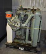 GARDNER DENVER SKID MOUNTED COMPRESSOR WITH 40 HP MOTOR, S/N: N/A (CI) [RIGGING FEE FOR LOT #22 - $