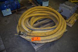 LOT/ (2) GREEN LINE G242 25' ROCK DRILL HOSES WITH 400 PSI CAPACITY (CI) [RIGGING FEE FOR LOT #