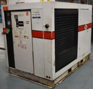 GARDNER DENVER ECPQMC ROTARY SCREW AIR COMPRESSOR WITH 100 HP, 100 PSI, S/N: M34149 (CI) [RIGGING